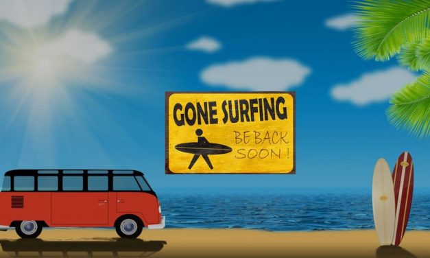 Gone Surfing! — We'll Be Back July 9th!